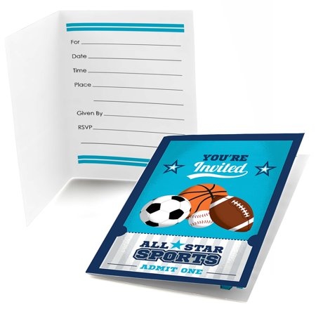 Go, Fight, Win - Sports - Fill In Baby Shower or Birthday Party Invitations (8 count)](Sports Birthday Invitations)