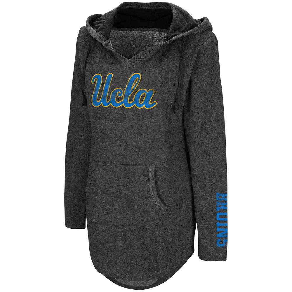 Womens UCLA Bruins Walkover V-Neck Tunic Pull-over Hoodie