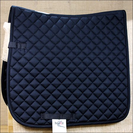 PONY SIZE BLACK HORZE PRINZE DRESSAGE ENGLISH COTTON FOAM SADDLE PAD HORSE Pony English Pad