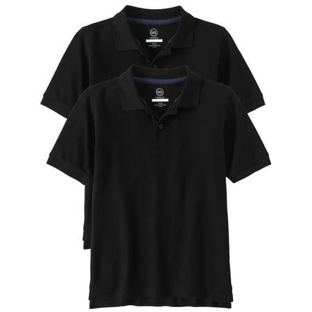 cf54ae326 Wonder Nation - Boys School Uniform Short Sleeve Double Pique Polo, 2-Pack  Value Bundle - Walmart.com