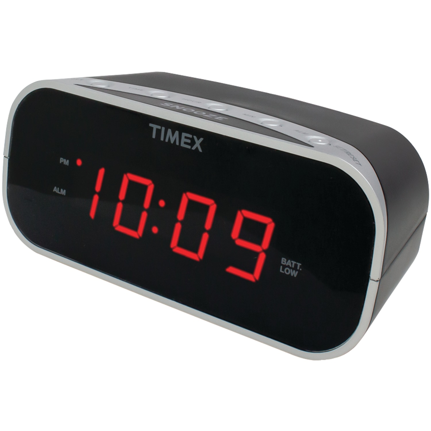 "Timex Audio T121B Alarm Clock with .7"" Red Display (Black)"