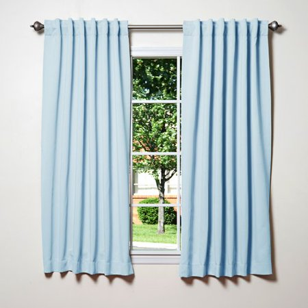 Best Home Fashion, Inc. Solid Blackout Thermal Rod Pocket Single Curtain