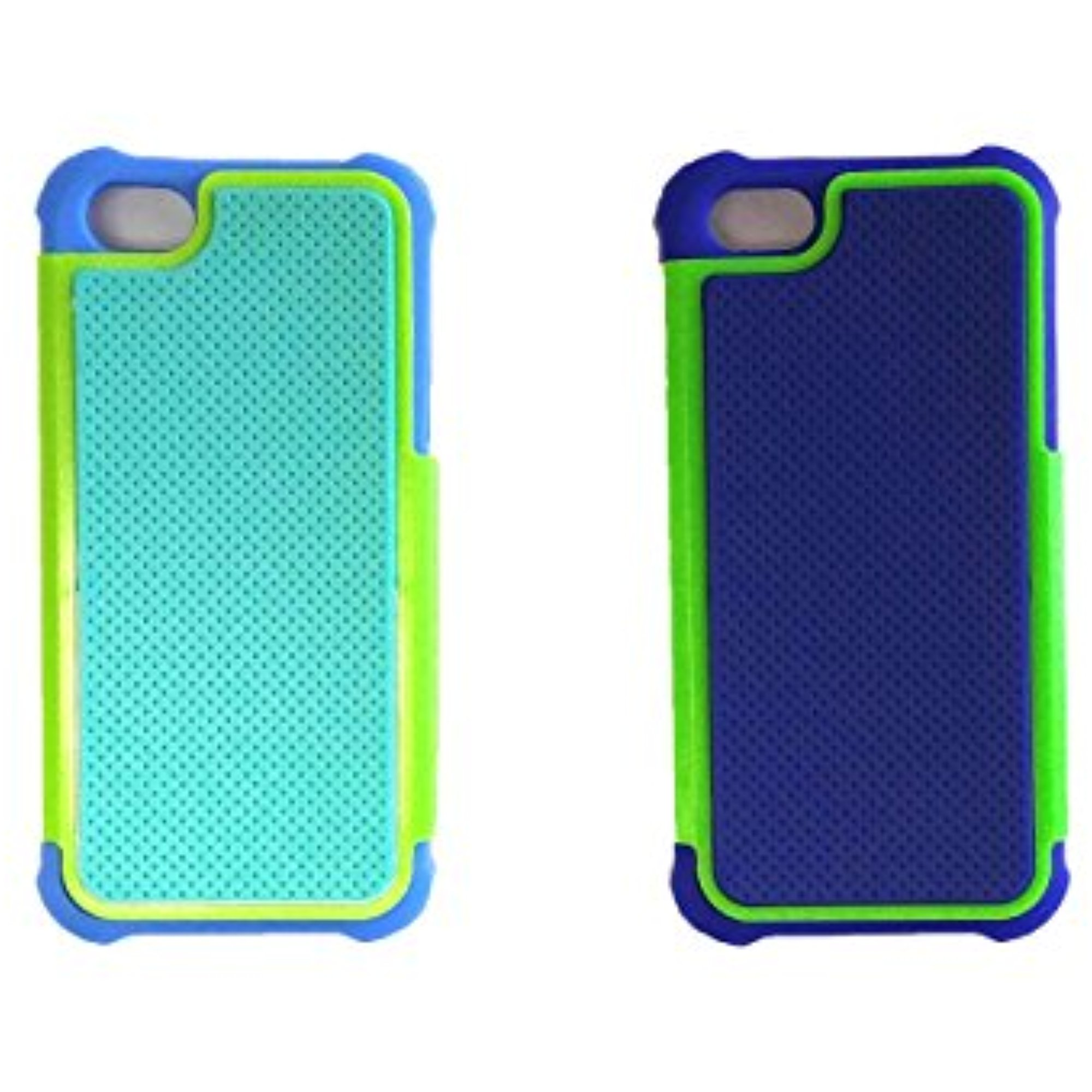 Set of 2 Lifestyle Colors & Prints Turtle Box iPhone 5 Cell Phone Cases in Blue and Green