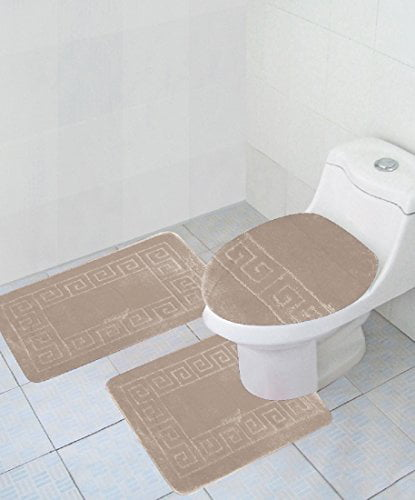 "Click here to buy 3 Piece Bath Rug Set Pattern Bathroom Rug (20""x32"") large Contour Mat... by AHF."