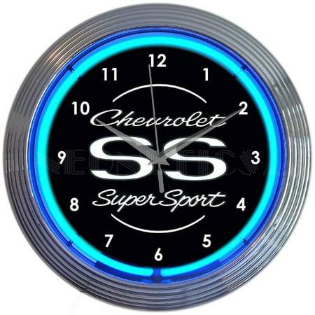 Neonetics Chevrolet SS Super Sport Neon 15'' Wall (General Chevrolet Neon Clock)