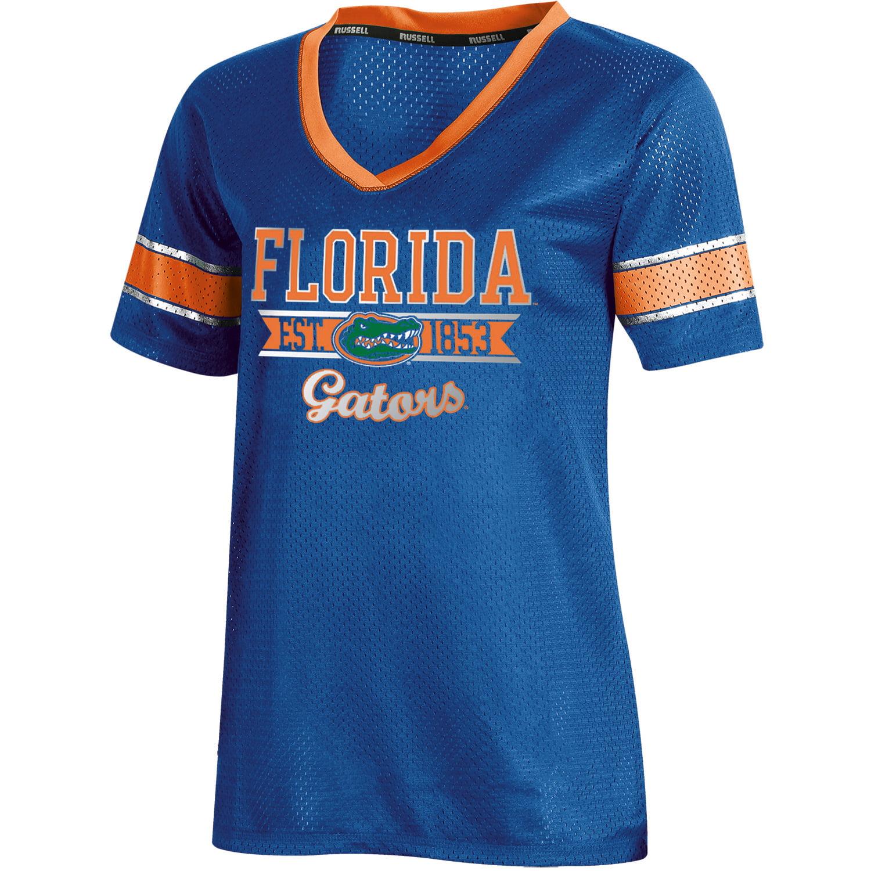 Women's Russell Royal Florida Gators Fashion Jersey V-Neck T-Shirt
