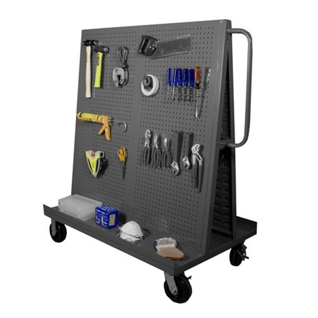 57 x 48 x 30 in. Steel & Iron A-Frame Truck with Pegboard on Both Sides