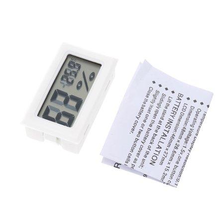Ustyle Mini LCD Digital Thermometer Hygrometer Temperature Indoor Convenient Temperature Sensor Humidity Meter Gauge - image 6 de 6