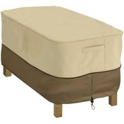 "Classic Accessories Veranda™ Rectangular Patio Coffee Table Cover - Water Resistant Outdoor Furniture Cover, 48""L x 25""W x 18""H, Pebble"