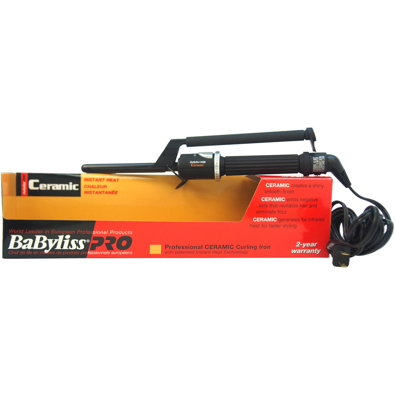 Babyliss Pro professional ceramic curling iron, black