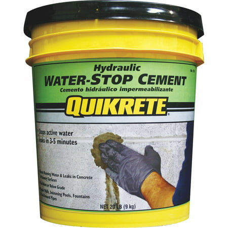 - Quikrete Hydraulic Water-Stop Cement