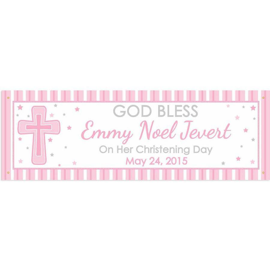 Personalized God Bless Banner, Girl
