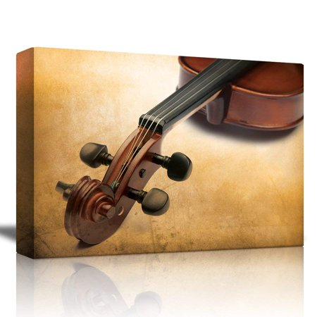 wall26 Violin on the Corner with a Neutral Gradient Background - Canvas Art Home Decor - 16x24