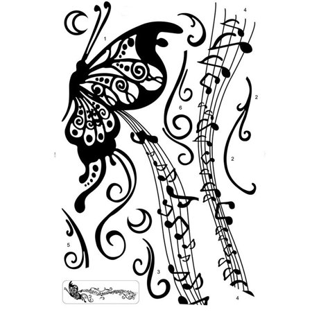Musical Notes Butterfly Stickers Decorative Creative Removable Wall Stickers](Musical Note Cutouts)
