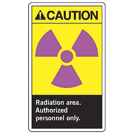 ACCUFORM SIGNS MRAD635VS Radiation Sign,10 x 7In,Self-ADH Vinyl