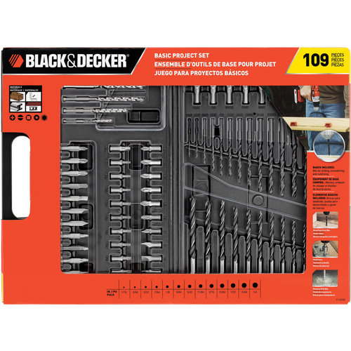 Black & Decker 109-Piece Basic Project Set, 71-0109