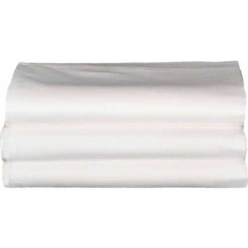 Baltic Linen Hotel/Hospitality Cotton Rich Easy Care Flat Sheets, 3-Pack, White