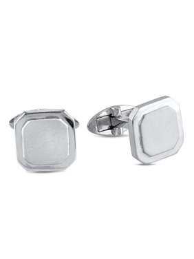 Sterling Silver Beveled Octagon Cufflinks