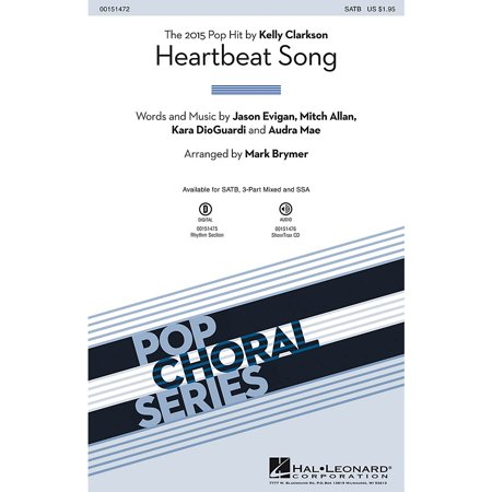 Hal Leonard Heartbeat Song SATB by Kelly Clarkson arranged by Mark Brymer](Halloween Beat Rap Song)