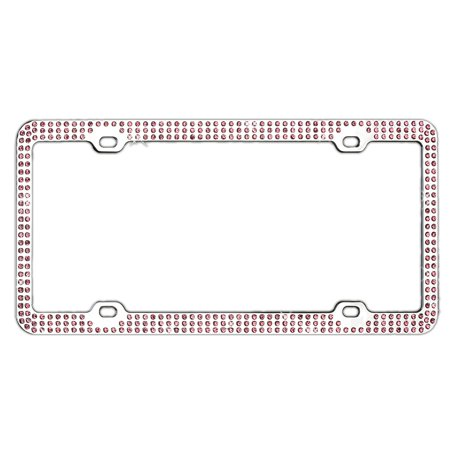 Auto Drive Pink Crystals License Plate Frame - Personalized License Plate Frame