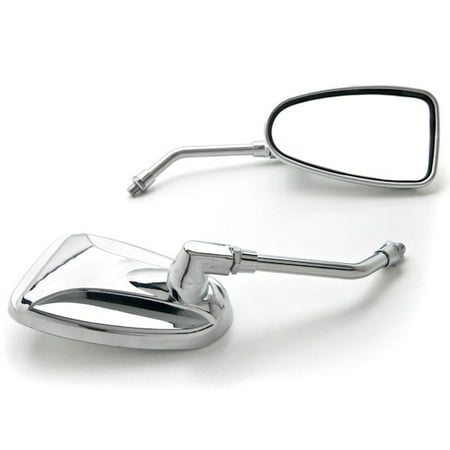 Krator Custom Rear View Mirrors Chrome Pair w/Adapters For Kawasaki Coyote Mini Trail Bike 75 90
