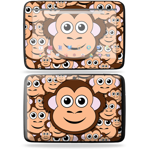 "Mightyskins Protective Skin Decal Cover for Samsung Google Nexus 10 Tablet with 10"" screen wrap sticker skins Monkey"