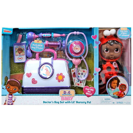 Disney Baby Doctor's Bag Set with Lil' Nurery Pal Playset [Ladybug]