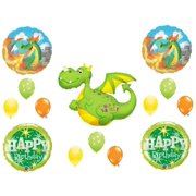 Green Dragon Birthday Party Balloons Decoration Supplies Magic Fire Castle