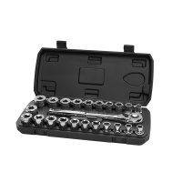 HART 23-Piece 1/2-inch Drive Mechanics Set with Ratchet, Chrome Finish