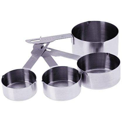 Progressive International Heavy Duty 4 Piece Stainless Steel Measuring Cup