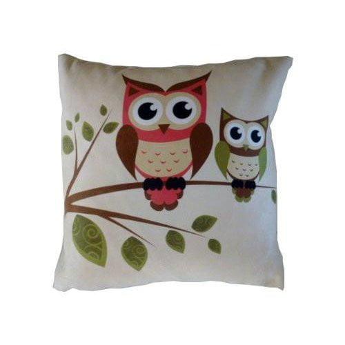 Zoomie Kids Horne Owls Throw Pillow