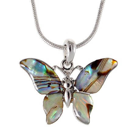 Petite Green Natural Sea Shell Butterfly Custom Jewelry Fashion Necklace Pendant](Sea Shell Jewelry)