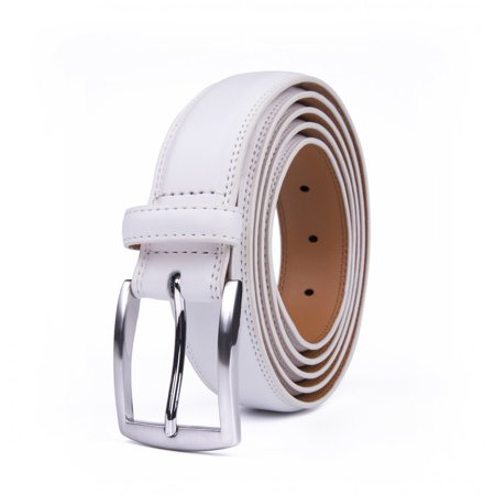 Real Leather Belts For Men, 1.25-inch Wide Classic Durable Belt - White](Real Batman Utility Belt For Sale)