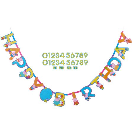 Left Side Banner - Peppa Pig Add-an-Age Birthday Party Banner, 10.5 ft.
