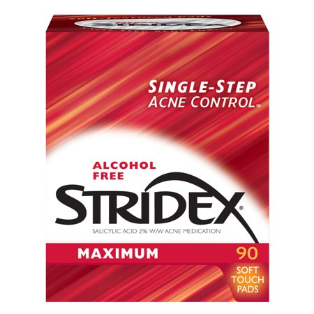 (2 pack) Stridex Maximum, Acne Medication Pads, 2% Salicylic Acid, 90 Count for $<!---->