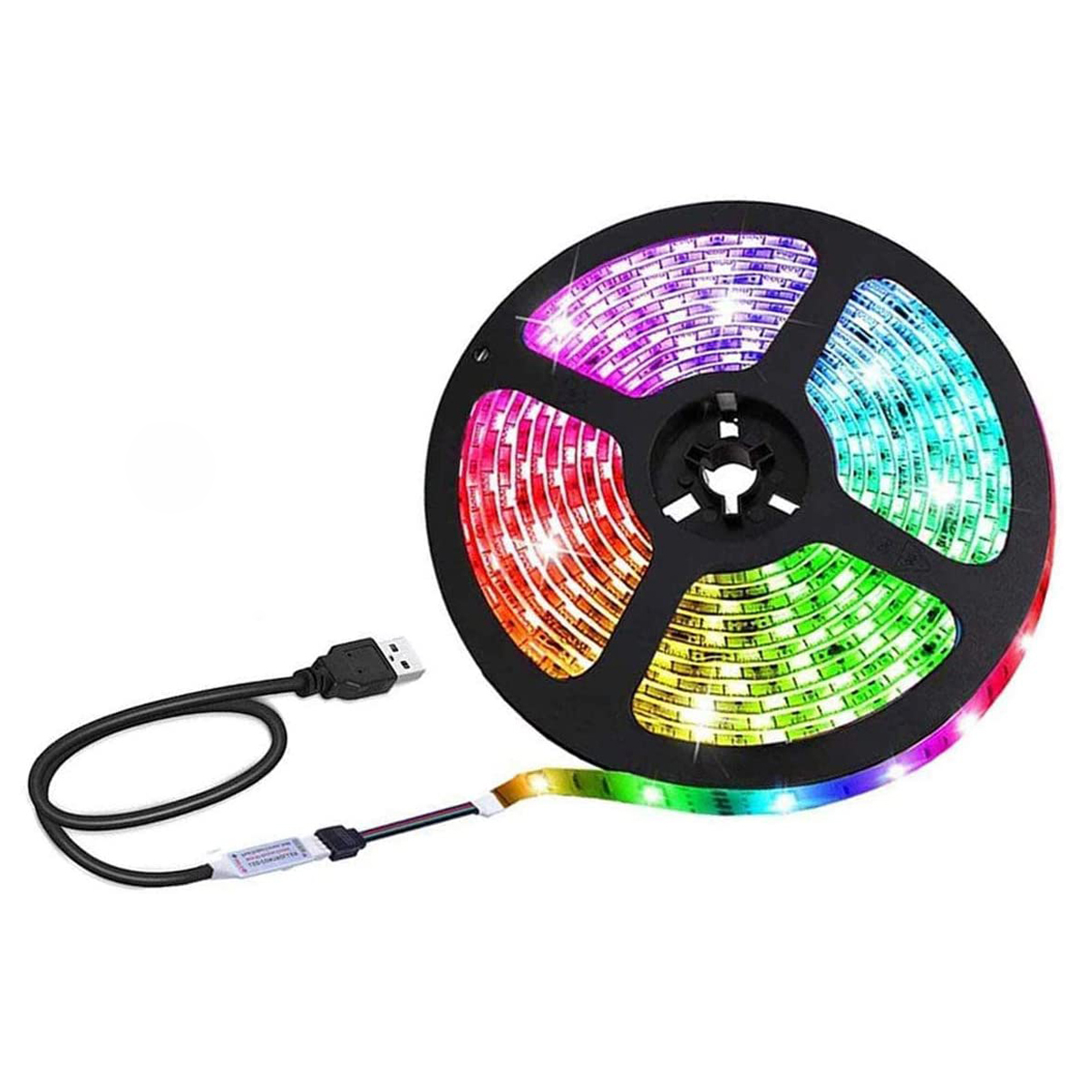 Details about  /LED Strip Light USB Flexible Ribbon Tape Brighter 0.5M 1M 2M 3M 4M 5M Tape Diode