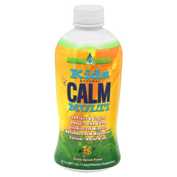Natural Vitality Natural Calm Fruity Splash Flavor Kids Multi Liquid Drink, 30 fl oz