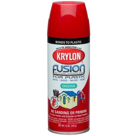 Krylon Fusion Spray Paint, Red Pepper (Uv Reactive Spray Paint)