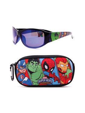 Superhero Adventures Soft Case and Kid's Sunglasses Set