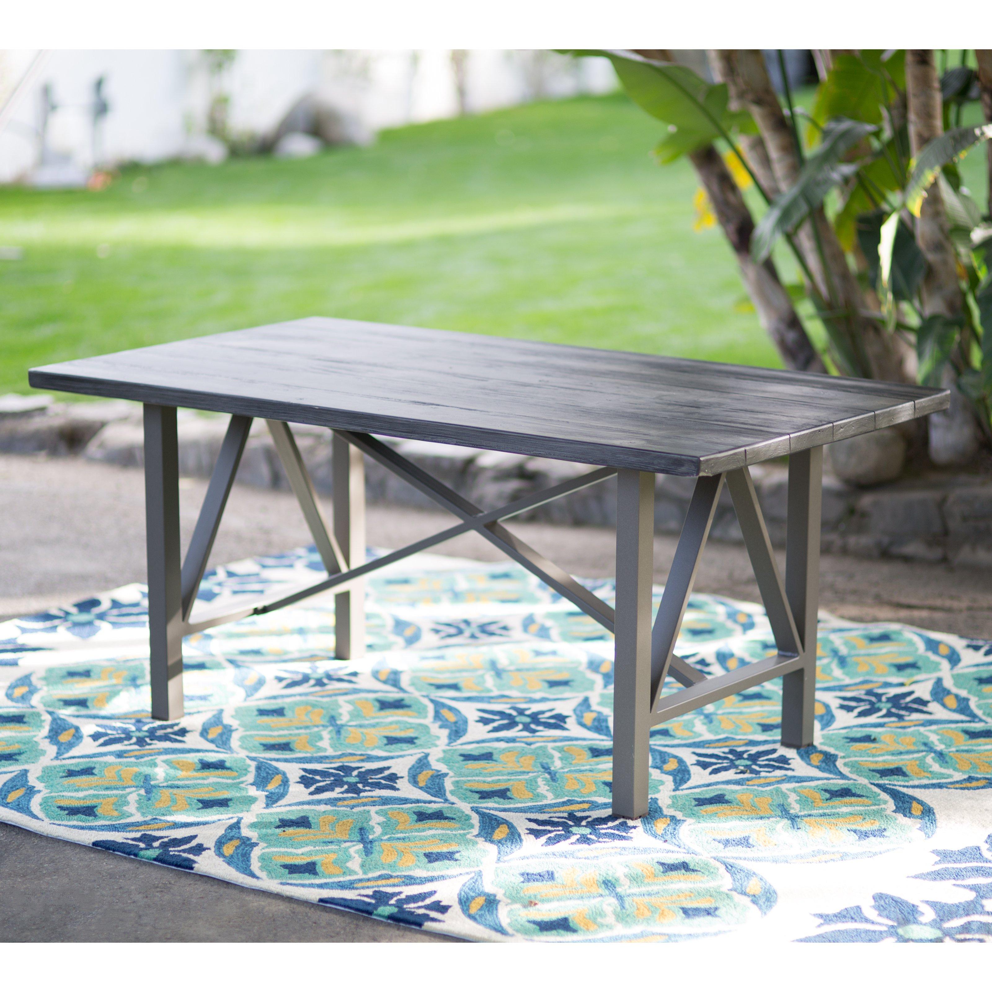 Belham Living Adissinia FiberReinforced Concrete Outdoor Patio - Faux concrete outdoor dining table