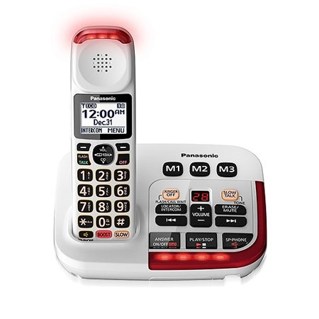 Panasonic KX-TGM420W 1 Handset Big Button Amplified Cordless Phone White