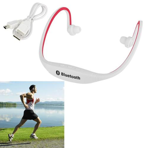 Insten Wireless Sports In-Ear Earbuds Stereo Headphones Earphones with Microphone Bluetooth Headset Handsfree White/Red