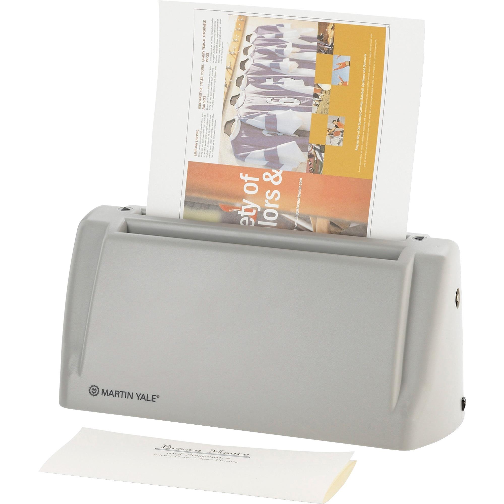 Martin Yale, PREP6200, Premier Electric Desktop Letter Folder, 1 / Each, Gray
