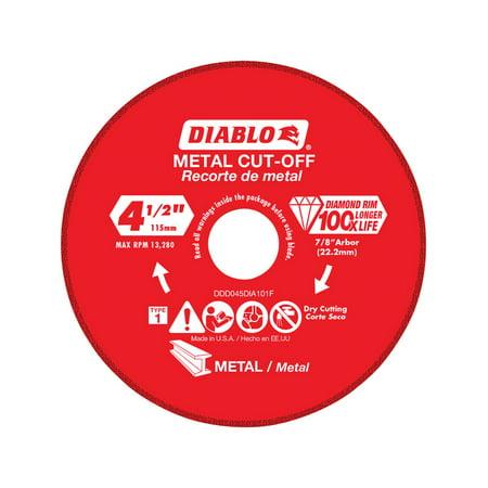 Diablo 4.5 in. Dia. x 7/8 in. Diamond Metal Cut-Off Wheel 1 pk