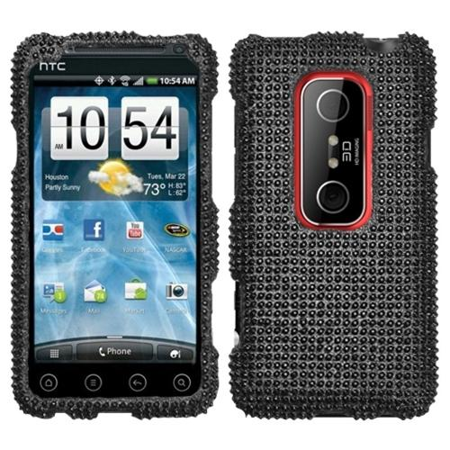 Insten Black Diamante Case (Diamante 2.0) for HTC: EVO 3D, EVO V 4G
