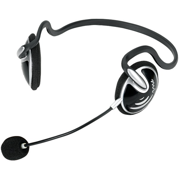 Micro Innovations MM780 Headset - Stereo - Mini-phone - Wired - Behind-the-neck - Binaural - Semi-open - Noise Cancelling Microphone