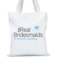 """The Real Bridesmaids Personalized Tote Bag, Sizes 11"""" x 14"""" and 14.5"""" x 18"""""""