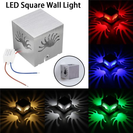 Cube indoor light Lamp LED Square Sconce Wall Light Decor Lighting Fixture Porch Walkway ()