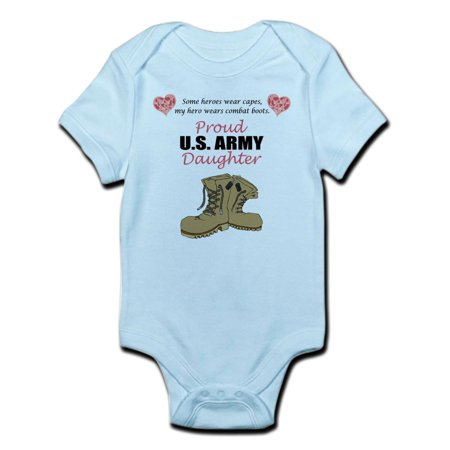 Army Baby Clothes - CafePress - Proud US Army Daughter Infant Bodysuit - Baby Light Bodysuit