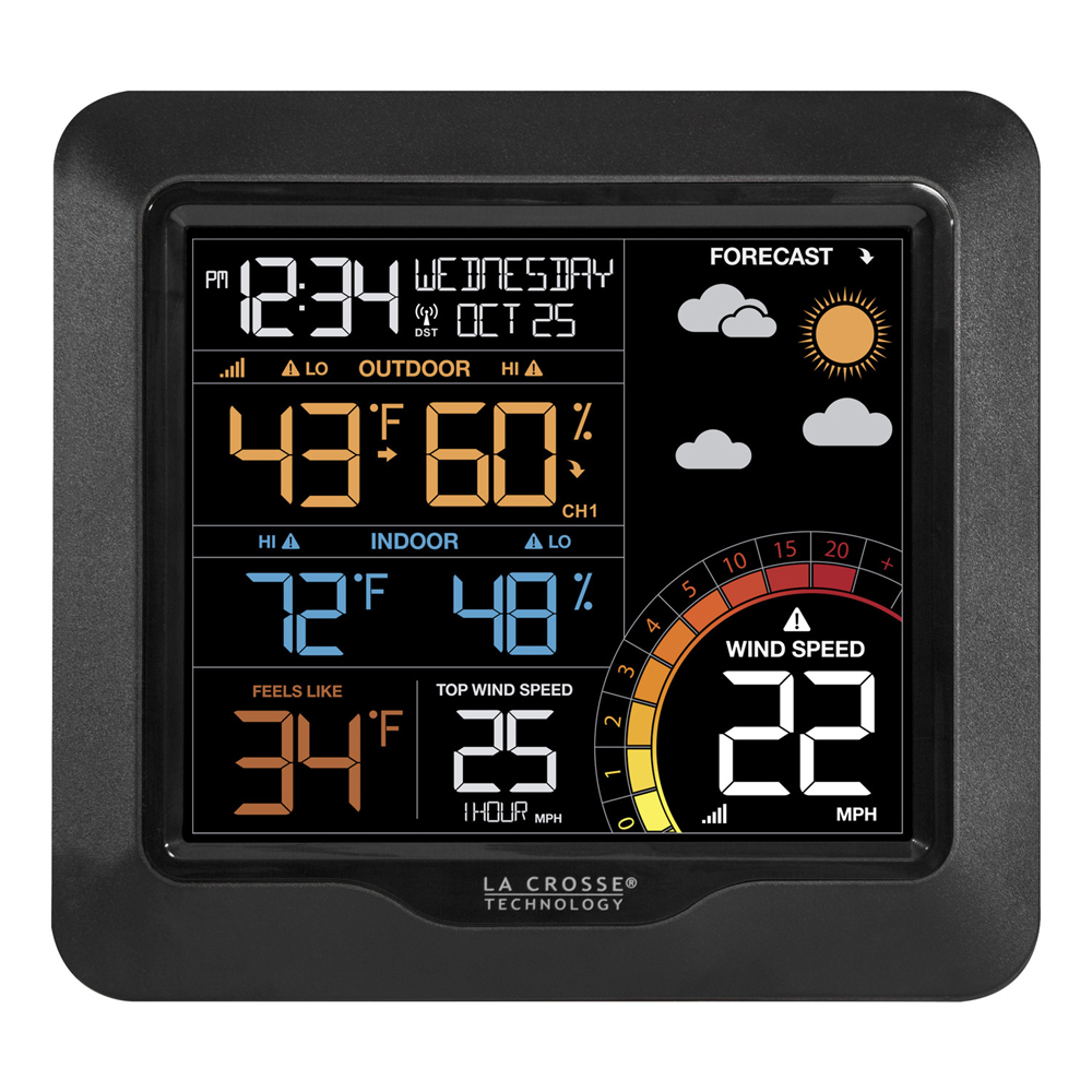 Lacrosse Color Wind Speed Weather Station by LACROSSE